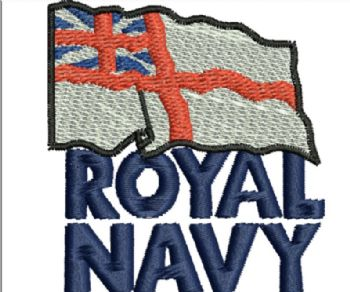 Royal Navy Embroidered Polo Shirt